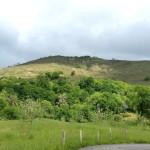 Vistas al monte de Bargaeu desde la Iglesia de Lodeña