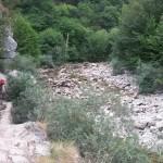Buscando la sombra al cobijo de una enorme roca